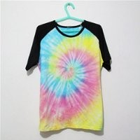 MP Mutilcolor Spiral Tie Dye Black Short Sleeve T Shirt 052835 HDP 0705