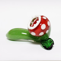 Glass Pipe Monster Plant MADE TO ORDER Hedcraft by Hedcraft