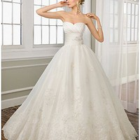 Buy discount Stunning Organza Satin Sweetheart Ball Skirt Wedding Dress at dressilyme.com