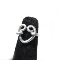 Heart Infinity Wire Wrapped Ring Jewelry Aluminum by JSCJewelry
