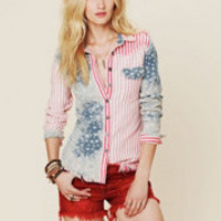 Free People American Flag Buttondown