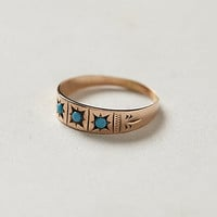 Antique Turquoise Trilogy Ring