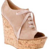 Gianvito Rossi Peep Toe Wedge