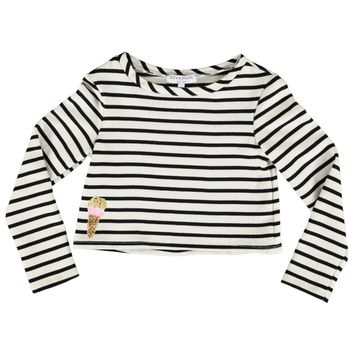 Two Scoops Bretonne, Women's Online Clothing Boutique, Bow & Drape, Custom Sweatshirts, stripes, striped, french, ice cream, summer,