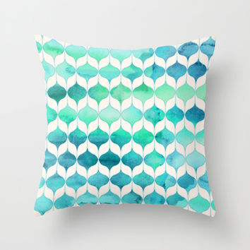 Ocean Rhythms and Mermaid's Tails Throw Pillow by micklyn | Society6