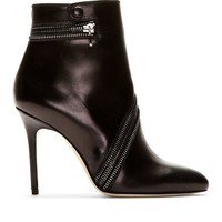 Black Leather Nebula Ankle Boots