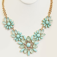Seafoam Flower Child Necklace Set
