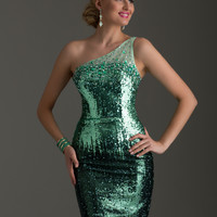 Clarisse 2464 - Spearmint Sequin One Shoulder Homecoming Dresses Online