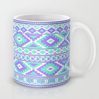 Tribal Art pattern design Creation Purple and Mint coffee Mug by tjc555 | Society6