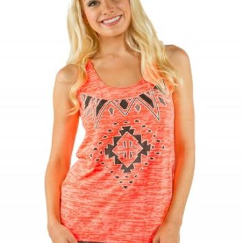AZTEC BURNOUT GRAPHIC TANK