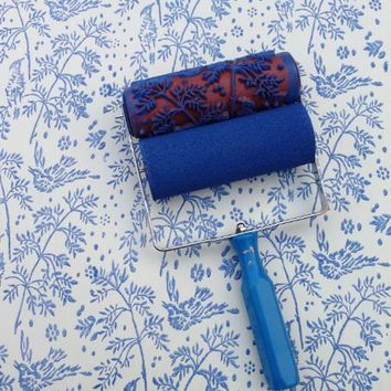Spring Bird Patterned Paint Roller