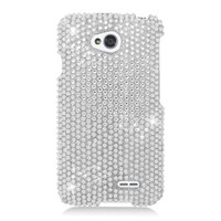 EagleCell Diamond Protector Case for LG Optiums L70 - Silver 377
