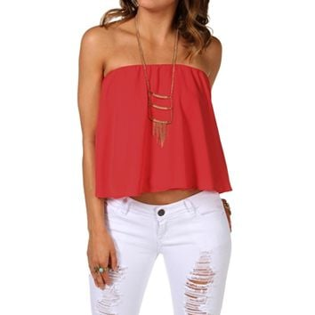 Ruffle Tube Top