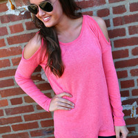 The Cold Shoulder {Coral}
