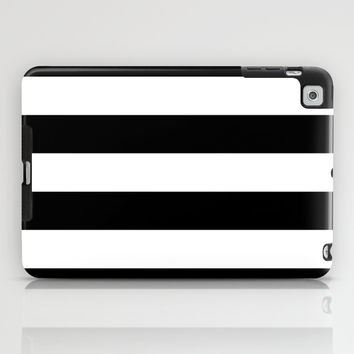 Stripe Black & White iPad Case by BeautifulHomes | Society6