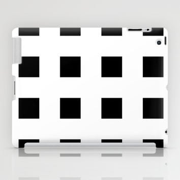 Cross Squares Black & White iPad Case by BeautifulHomes | Society6