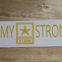 Army Strong Vinyl Decal