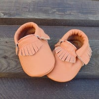 6 To 12 Month Genuine Leather Baby Moccasins, Baby Booties, Baby Girl-Boy Leather Moccasins, Newborn Baby Shoes, Infant Baby Slipper