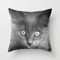 kitten Throw Pillow by Marianna Tankelevich | Society6