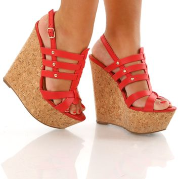 Spirit Of Summer Wedges Red