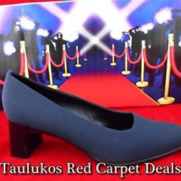"Womens shoes VILLAGER LIZ CLAIBORNE ""STEFFI"" High Heels Pumps NAVY BLUE sz 9.5 M"