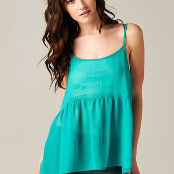 """Most Popular"" Ruffle Tank in Jade"