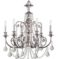 Crystorama Lighting, Regis 6-Light Chandelier - Lighting &amp; Lamps - furniture - Macy&#x27;s