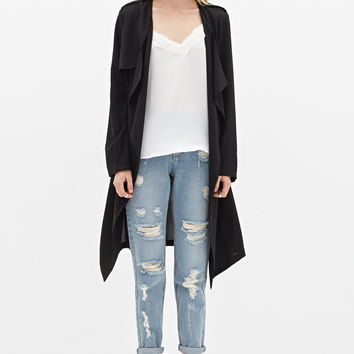 Open-Front Duster Coat