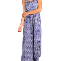 Tribal Jumpsuit - Blue