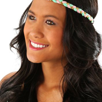 Twisted Heart Headband: Multi