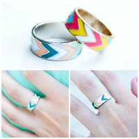 Eternally Yours Chevron Rings