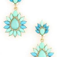Jewel Teardrop Earrings