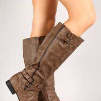 Coco-55 Round Toe Riding Knee High Boot