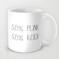 50% Punk 50% Rock Mug by Sara Eshak