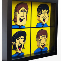 The Beatles Wall Art 3D Pop Artwork Print by PopsicArt on Etsy