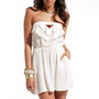 Keyhole Ruffled Tube Dress in White by ShopAKIRA | Tube Dress | ShopAKIRA.com