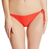 Sofia by ViX Women's Solid Tie Side Brazil Bikini Bottom