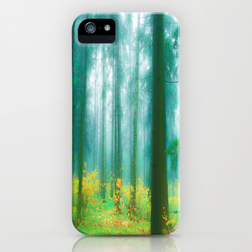Fairy tale (Green) iPhone & iPod Case by Armine Nersisian