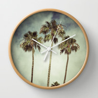 Tropic Storm Wall Clock by RichCaspian | Society6