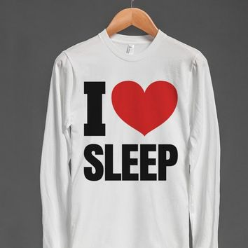 I HEART LOVE SLEEP LONG SLEEVE T-SHIRT WHITE ID790849