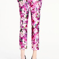 rose print jackie capri - kate spade new york