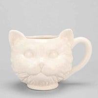 Plum & Bow Cat Face Mug- White One