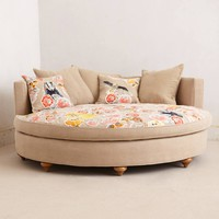 Pixelated Flora Circle Sofa