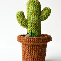 Desert Cactus - Mexican Cactus - Cute Green Cactus - Crochet Cactus - Crochet Plant - Plant Home Decor - DIY Plant - CROCHET PATTERN no.167