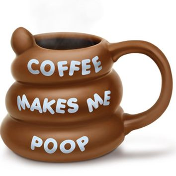 Coffee Makes Me Poop Mug (Brown)