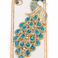 embellished peacock iphone case $25.30 in BLACKGOLD FUCHGOLD MULTIGOLD TURQGOLD - Other | GoJane.com