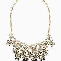 ombre bouquet statement necklace