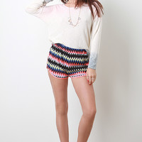 Geo Chevron Shorts