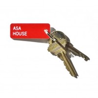 The Sorority House Key Tag - Alpha Sigma Alpha
