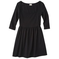 Junior's 3/4 Sleeve Fit & Flare Dress